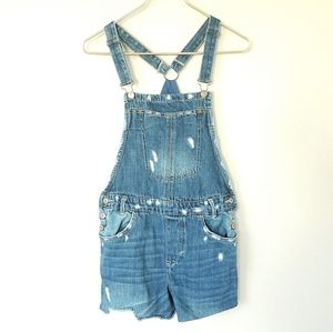 Zara Short Cut Off Overalls